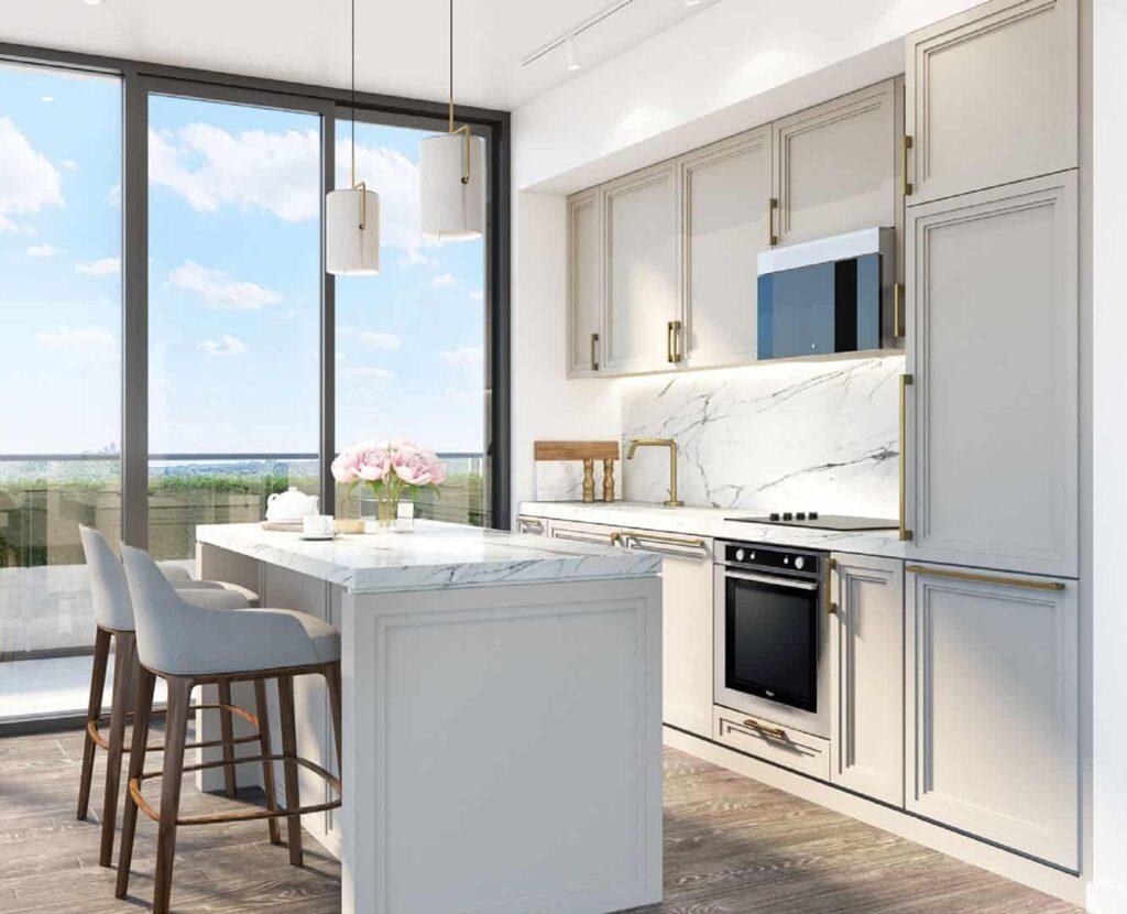 181 east condos kitchen