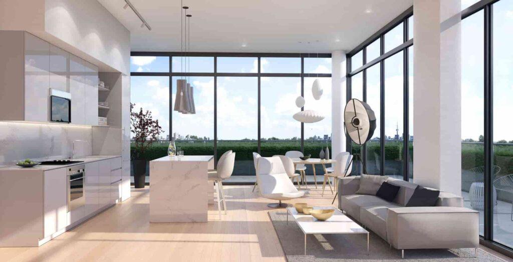 181 east condos suite interiors