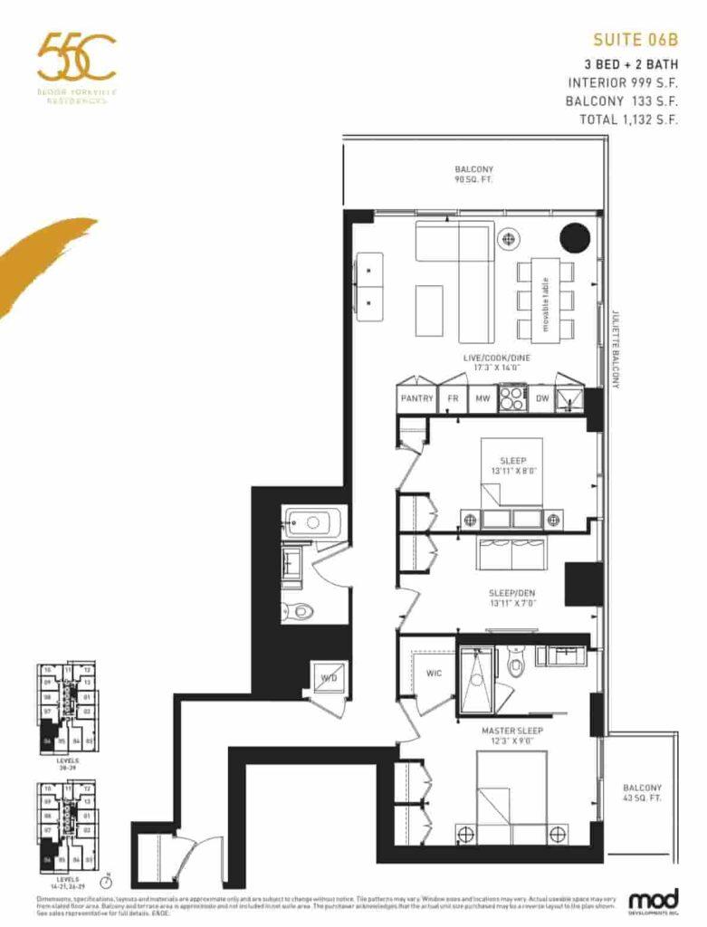 55C Condos Bloor Yorkville Residences floor plan 06b