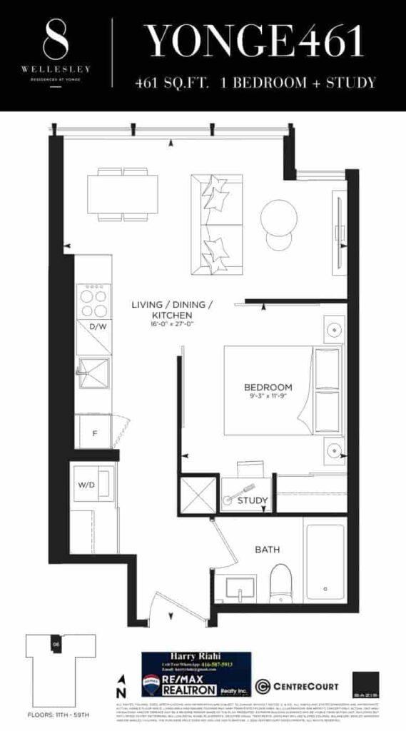 8 Wellesley Condos Floor Plan