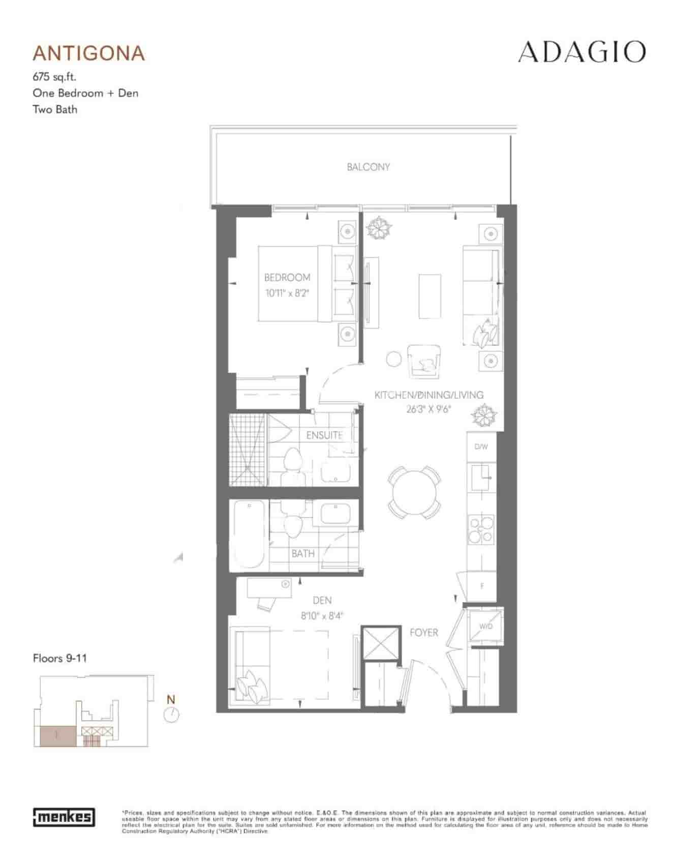 Adagio Condos floor plan Antigona