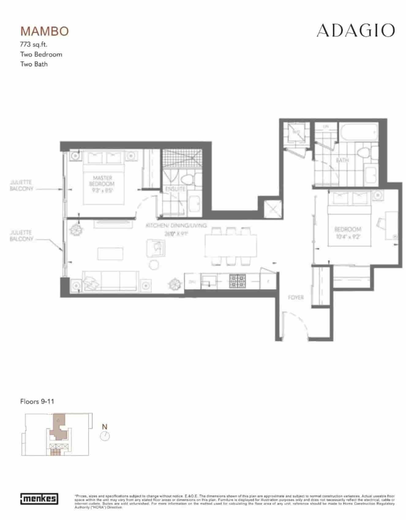 Adagio condos floor plan mambo